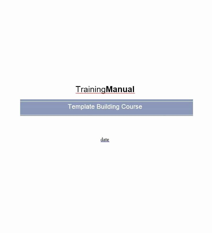 Training Manual Template Free Unique Training Manual 40 Free Templates & Examples In Ms Word