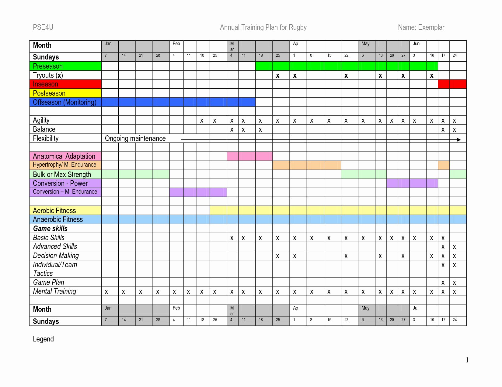 Training Plan Template Excel Awesome Annual Training Plan Template Excel – Printable Schedule