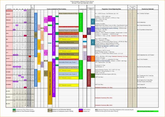 Training Plan Template Excel Elegant Yearly Training Calendar Template