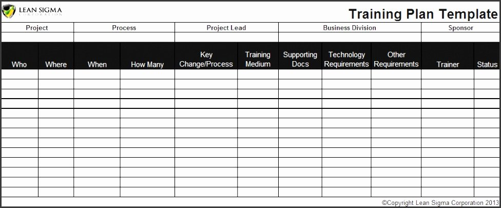 Training Plan Template Excel Lovely 10 Annual Training Plan Template Sampletemplatess