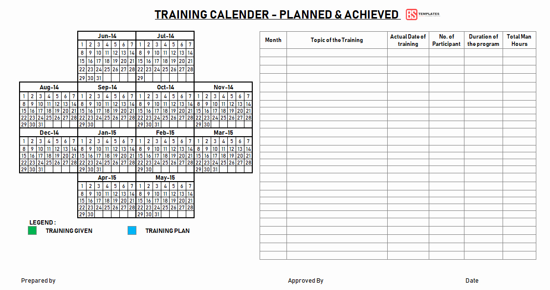 Training Plan Template Excel New Employee Training Plan Template Excel Project Annual