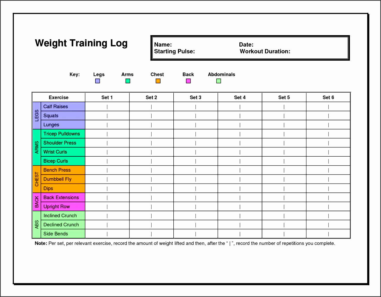 Training Plan Templates Excel Best Of 7 Exercise Planner Template In Excel Sampletemplatess