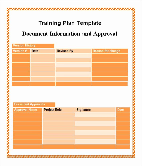 Training Plan Templates Excel Inspirational Training Plan Template 16 Download Free Documents In