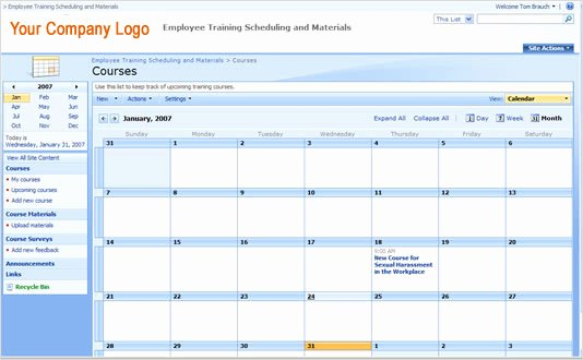 Training Plan Templates Excel Lovely Employee Training Schedule Template In Ms Excel Excel