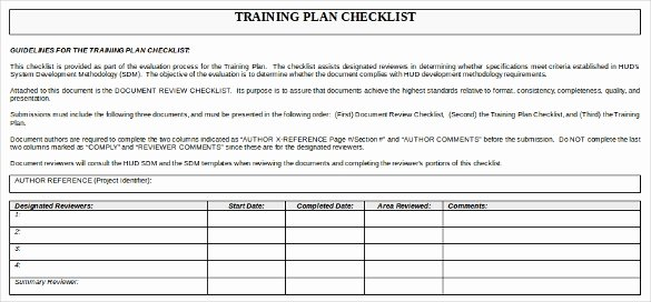 Training Plan Templates Excel Luxury Training Checklist Template 21 Free Word Excel Pdf