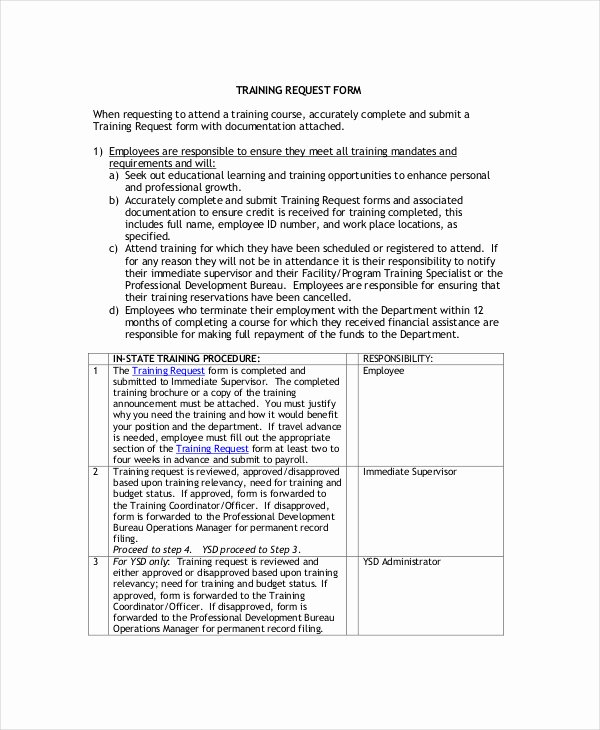 Training Request form Template Fresh Individual Employee Training Plan Template