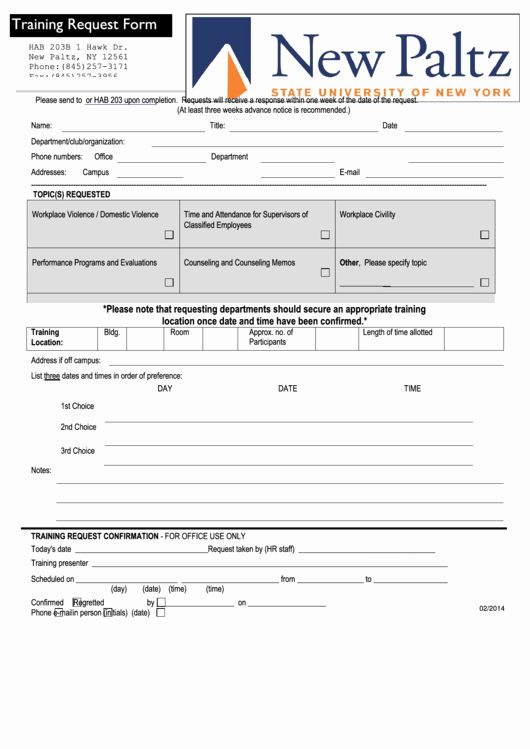 Training Request form Template Fresh top 16 Training Request form Templates Free to In