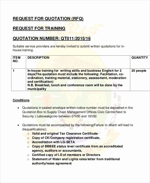 Training Request form Template Luxury 8 Training Quotation Samples Word Pdf Google Docs