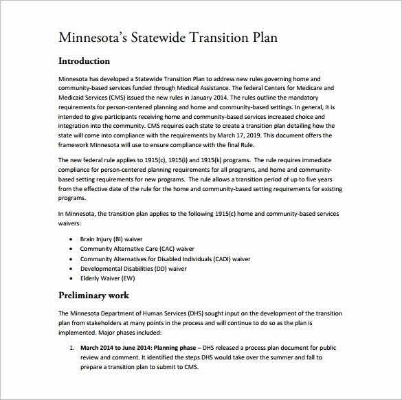 Transition Management Plan Template Awesome 12 Transition Plan Templates Free Sample Example