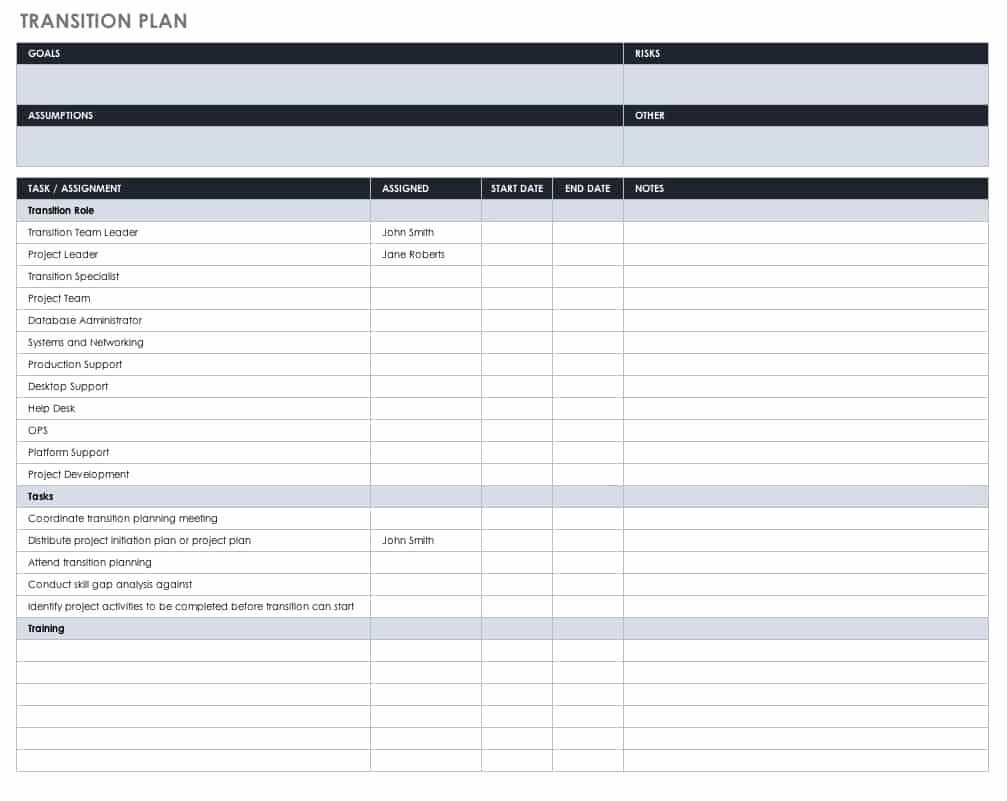 Transition Management Plan Template Best Of All About Human Resource Management