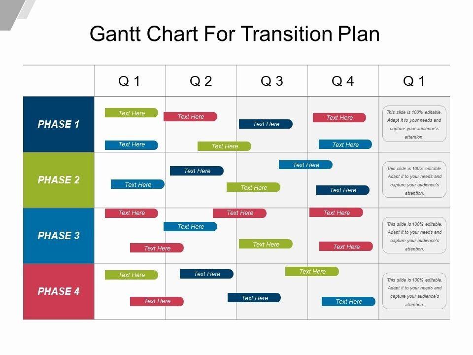 Transition Management Plan Template Lovely Gantt Chart for Transition Plan Example Ppt