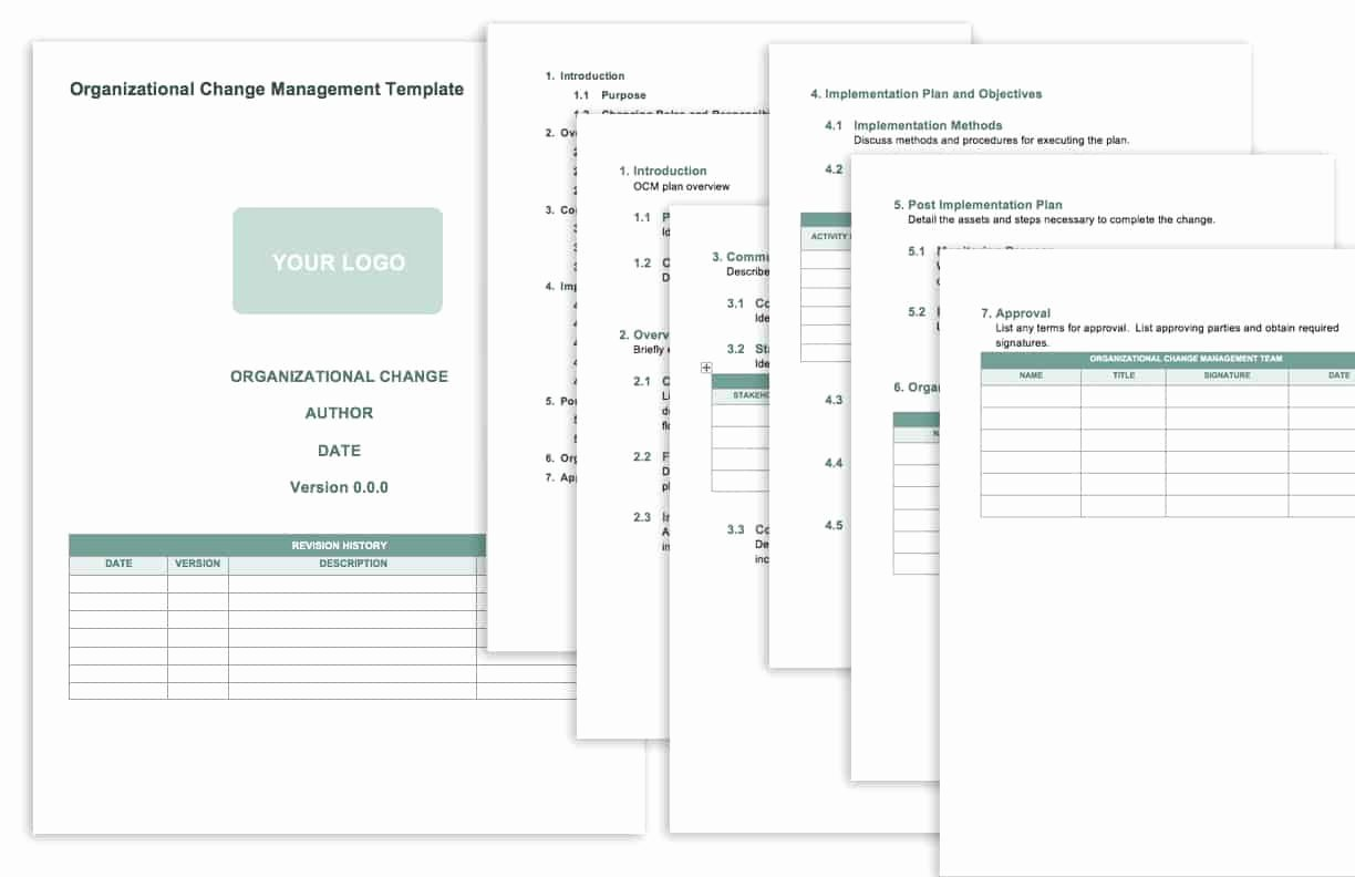 Transition Management Plan Template Unique Free Change Management Templates