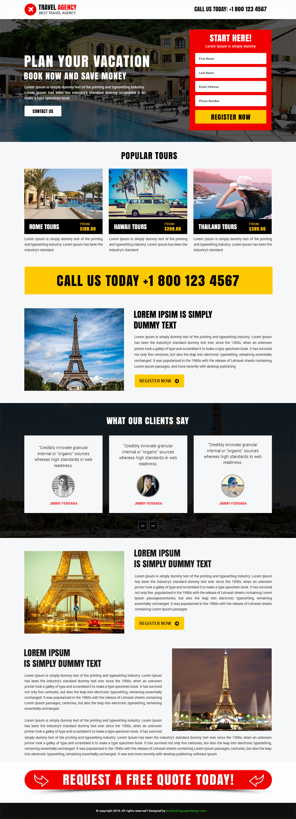 Travel Agent Quote Template Fresh Professional Travel Agency Template Buy Landing Pages Design