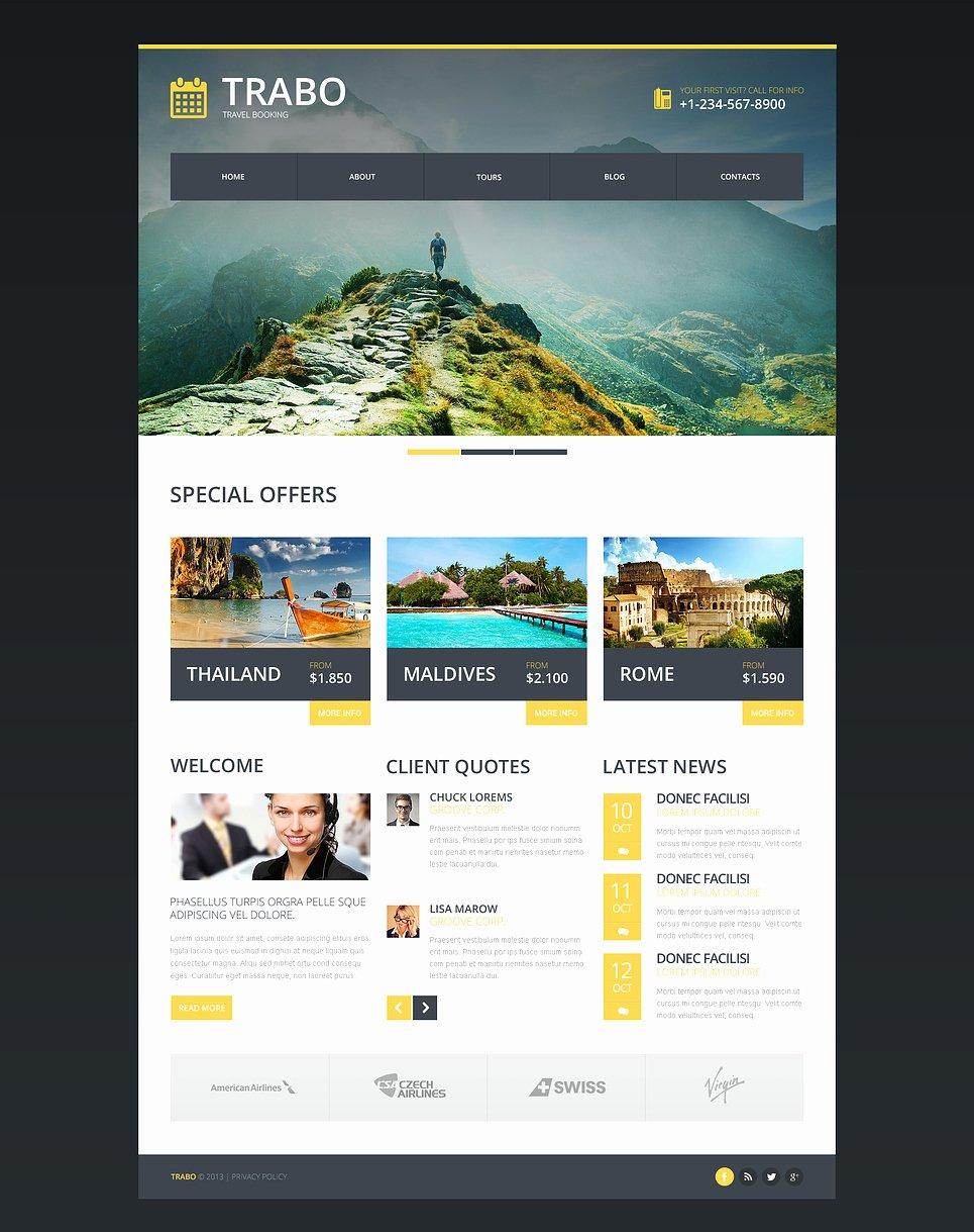 Travel Agent Quote Template Inspirational Travel Agency Responsive Website Template