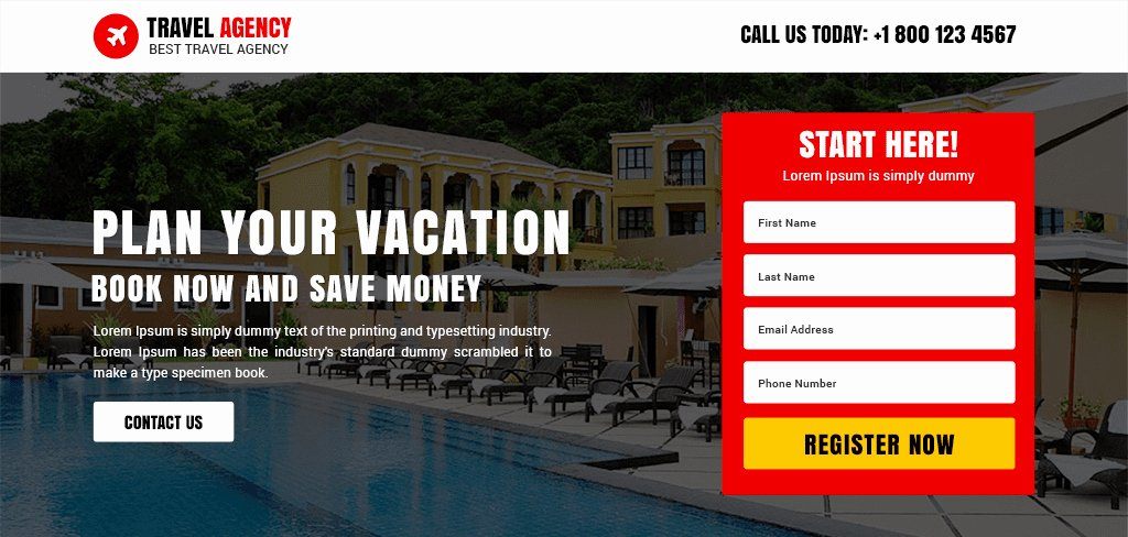 Travel Agent Quote Template Lovely Professional Travel Agency Template Buy Landing Pages Design