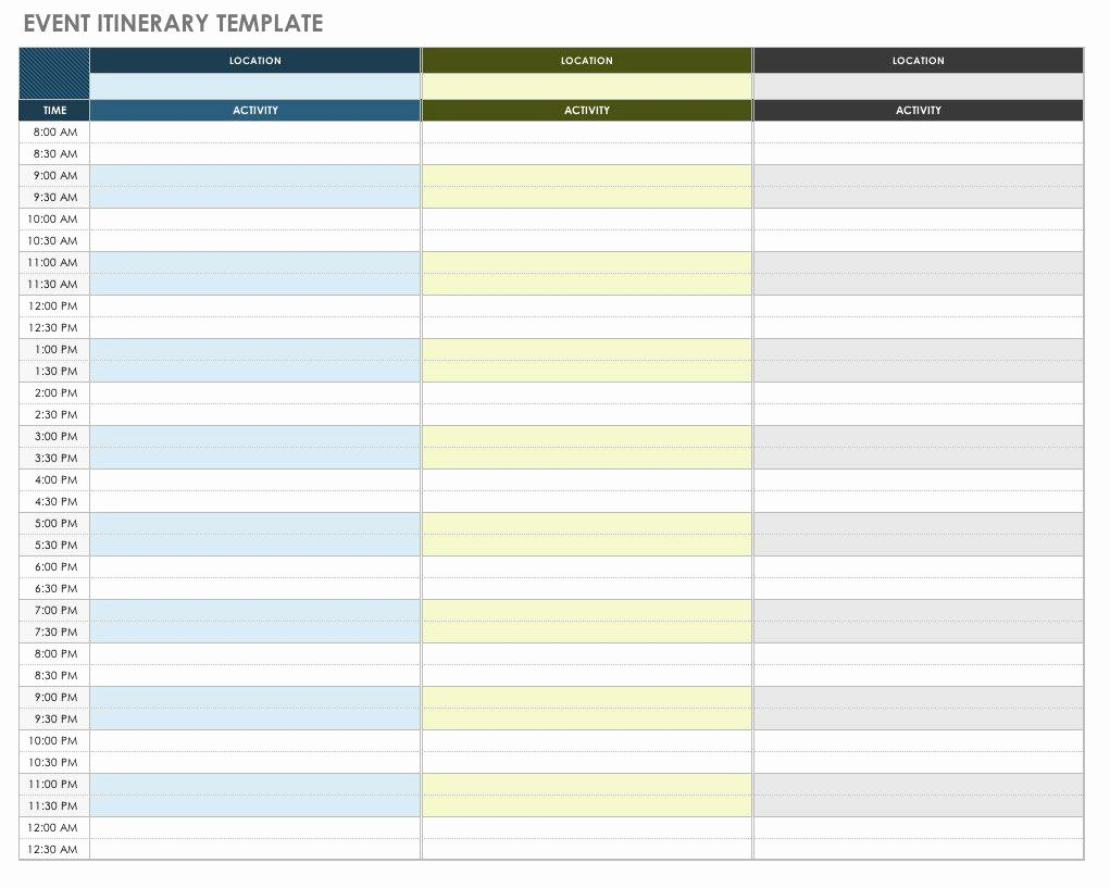 Travel Itinerary Template Word Best Of Free Itinerary Templates