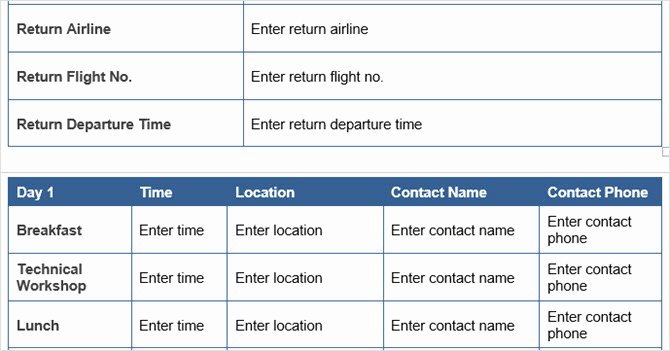 Travel Itinerary Template Word Elegant 15 Microsoft Word Business Templates to Keep You Productive