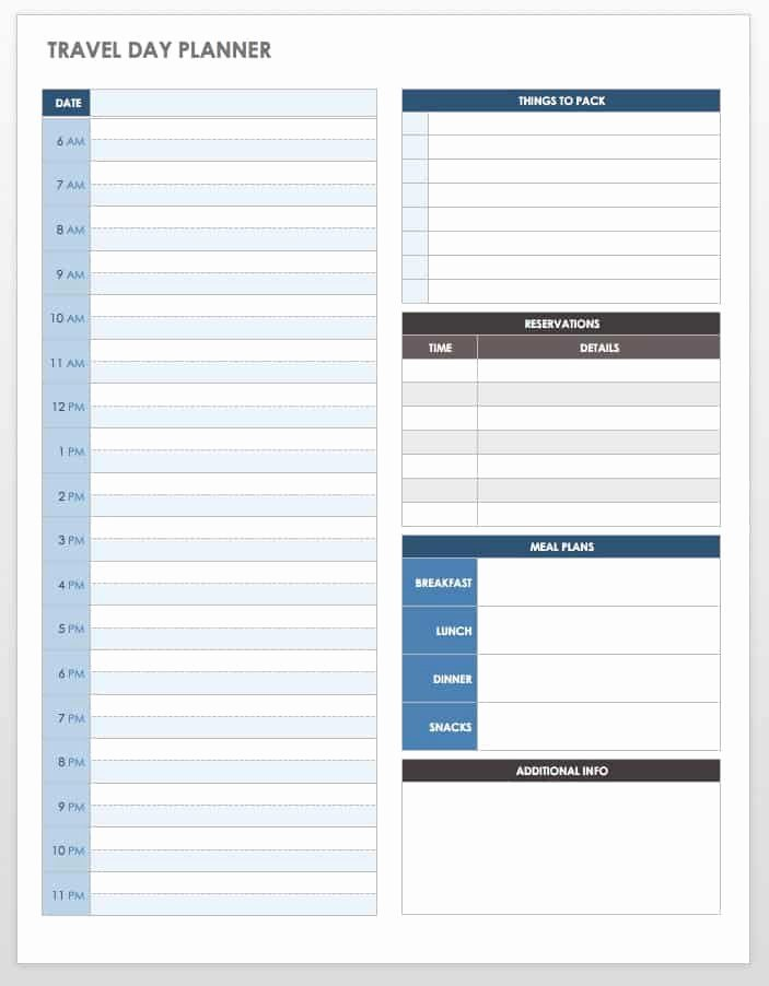 Travel Itinerary Template Word New Free Itinerary Templates