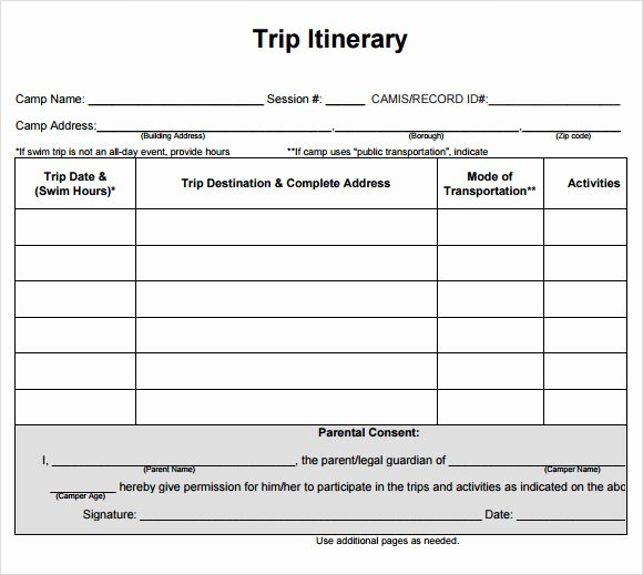 Travel Itinerary Template Word Unique Cruise Itinerary Template 9 Download Free Documents In