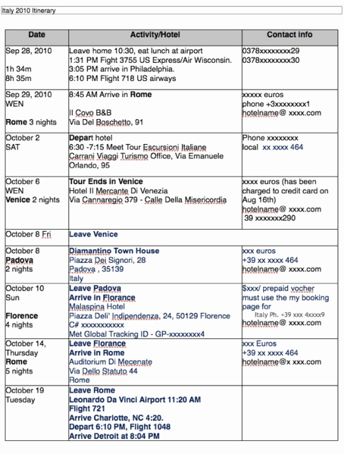 Travel Itinerary Template Word Unique Travel Itinerary Templates Find Word Templates