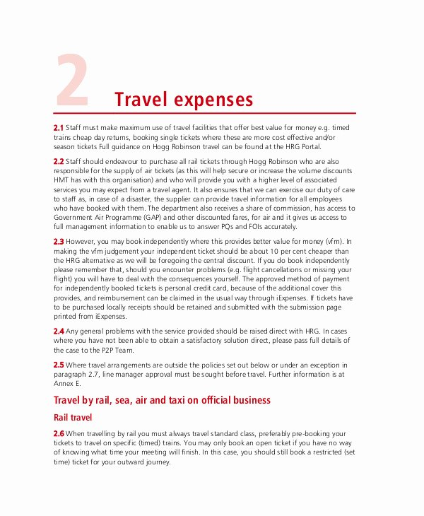 Travel Policies and Procedures Template Inspirational 9 Travel and Expense Policy Templates Pdf Word