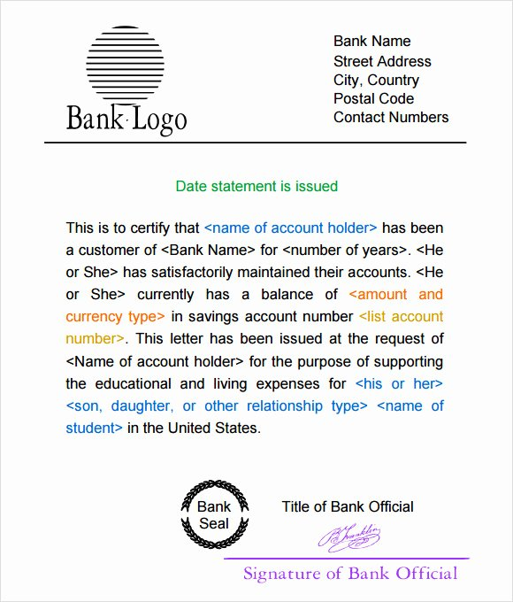 Us Bank Statement Template Awesome Free 9 Bank Statement Templates In Free Samples Examples