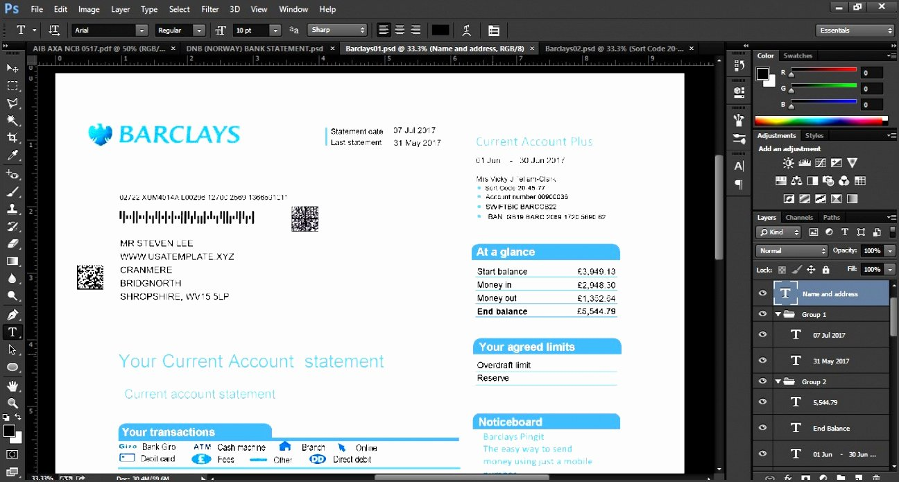 Us Bank Statement Template Lovely 10 Editable Bank Statement Template Sampletemplatess