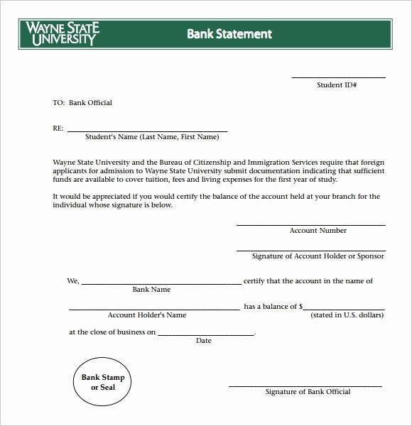Us Bank Statement Template Unique Free 9 Bank Statement Templates In Free Samples Examples