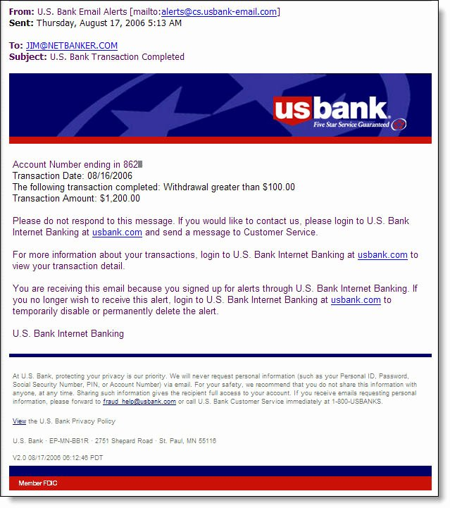 Us Bank Statement Template Unique Us Bank Introduces Email Alerts 2 0 Finovate