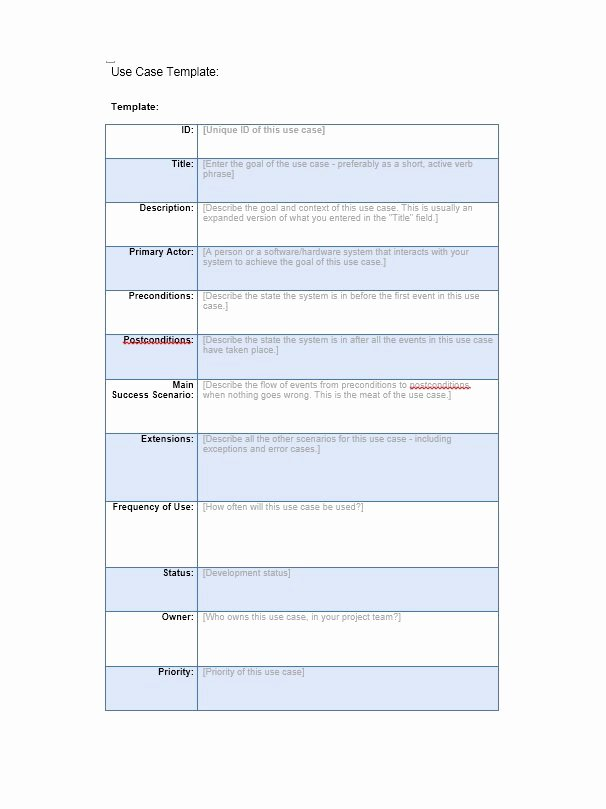 Use Case Template Word Beautiful 40 Use Case Templates & Examples Word Pdf Template Lab