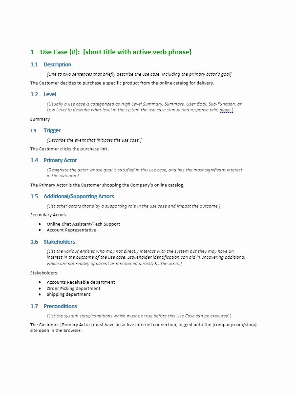 Use Case Template Word Inspirational 40 Use Case Templates & Examples Word Pdf Template Lab