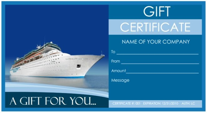 Vacation Gift Certificate Template Best Of 9 Free Sample tourism Gift Certificate Templates