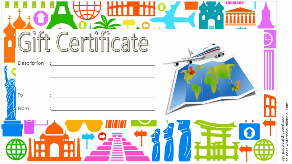 Vacation Gift Certificate Template Best Of Travel Gift Certificate Editable [10 Modern Designs]