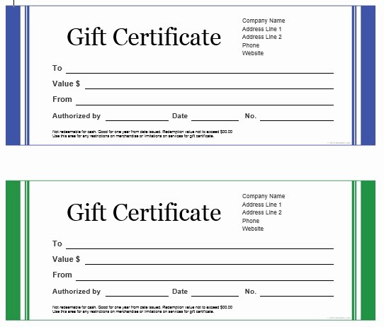 Vacation Gift Certificate Template Fresh 7 Free Sample Travel Gift Certificate Templates