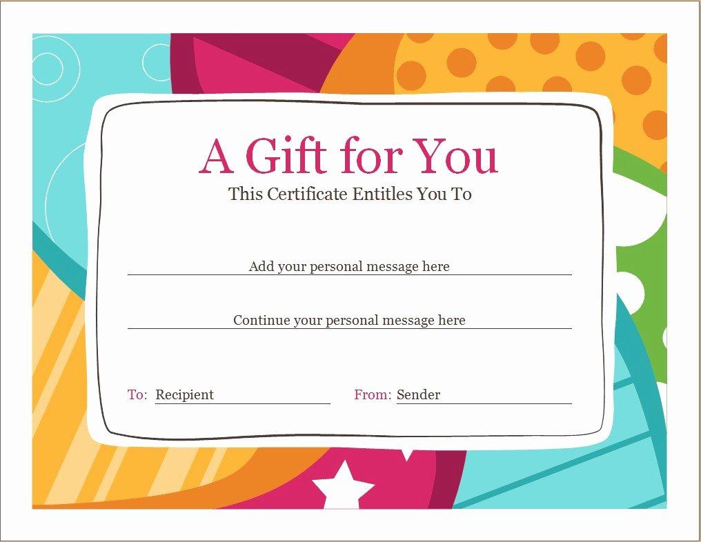 Vacation Gift Certificate Template Fresh Birthday Voucher Template