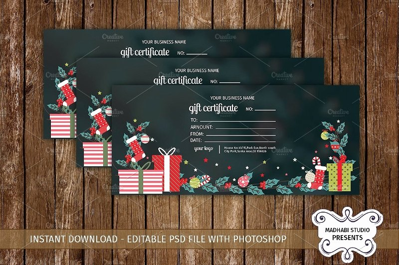 Vacation Gift Certificate Template Inspirational 20 Beautiful Gift Card Designs Psd Ai Eps