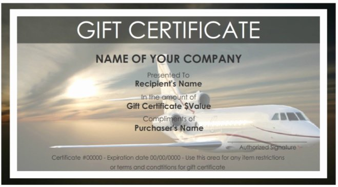 Vacation Gift Certificate Template Inspirational 7 Free Sample Travel Gift Certificate Templates