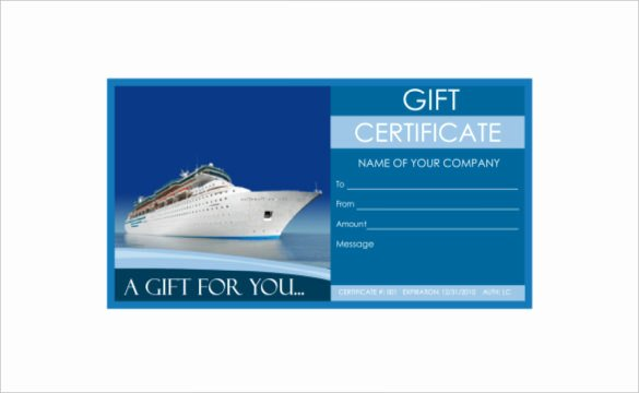 Vacation Gift Certificate Template Lovely 9 Travel Gift Certificate Templates Doc Pdf Psd