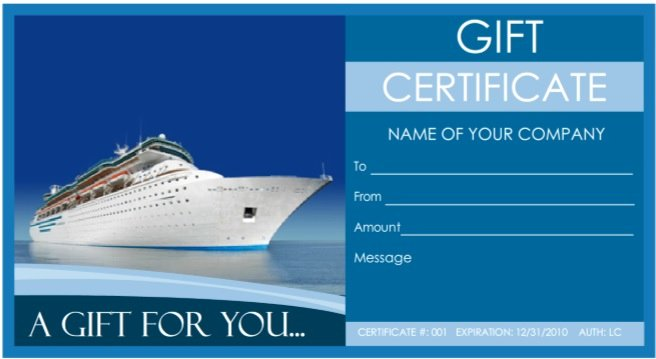 Vacation Gift Certificate Template Luxury 7 Free Sample Travel Gift Certificate Templates