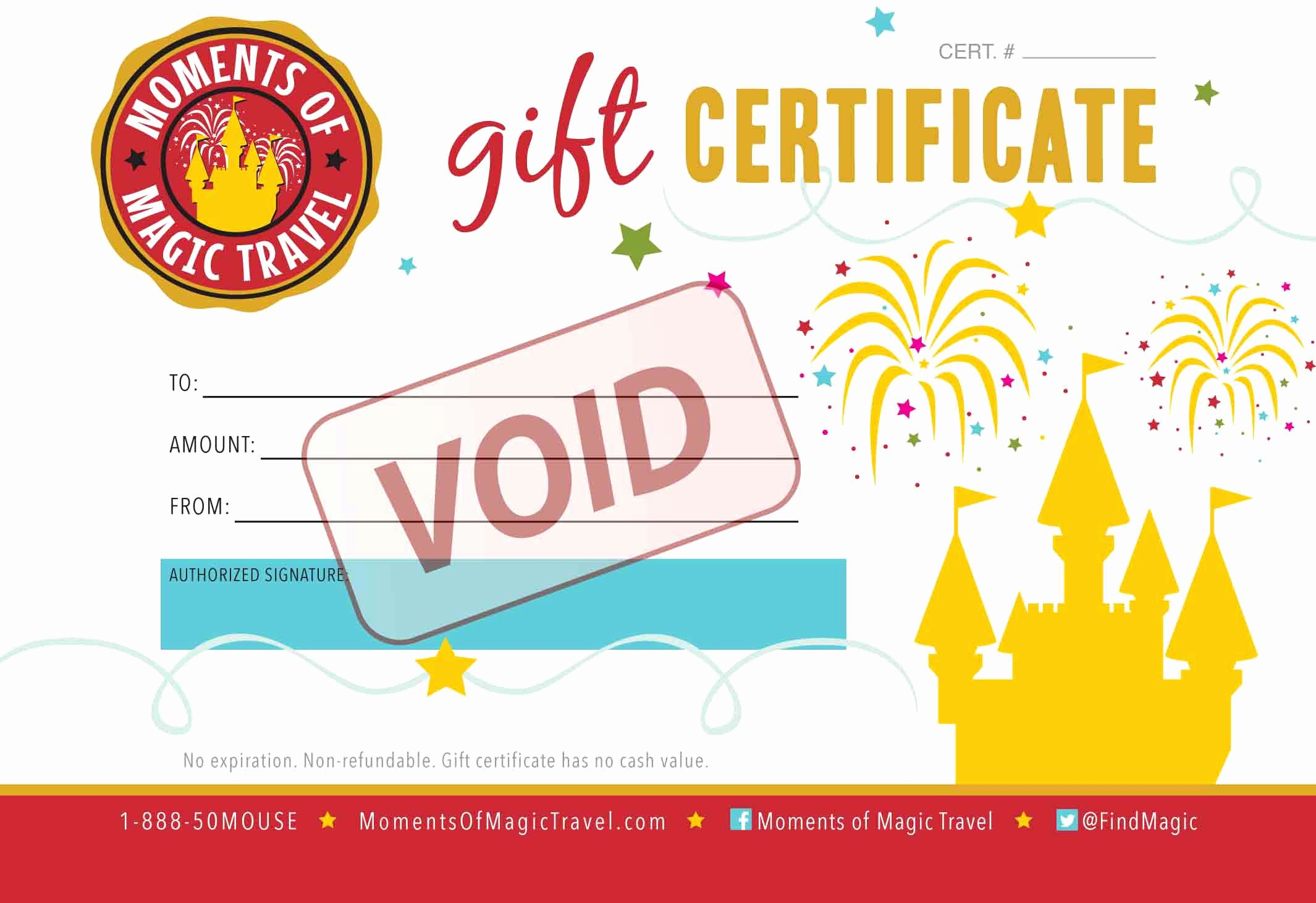 Vacation Gift Certificate Template Luxury Adventures by Disney Archives