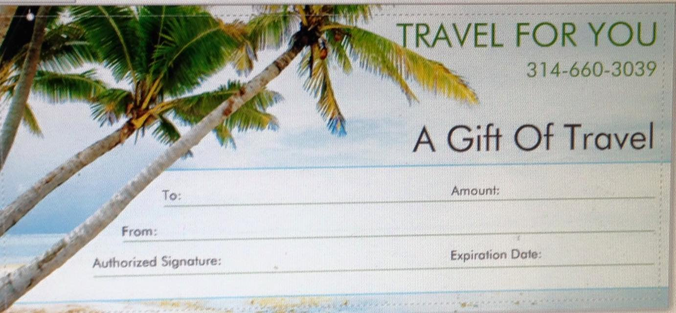 Vacation Gift Certificate Template Unique Travel for You Gift Of Travel Certificate