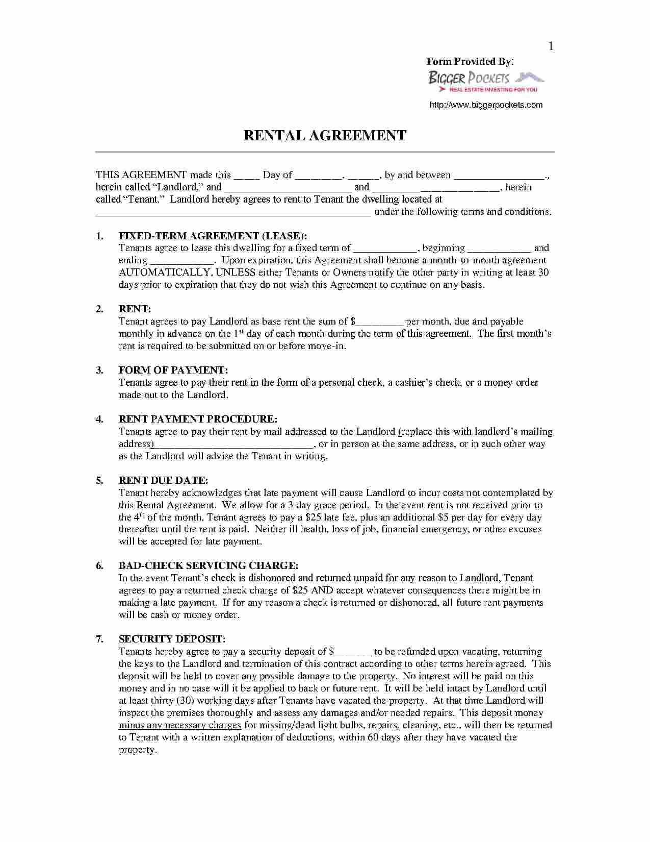Vacation Rental Agreements Template Beautiful Download Vacation Rental Short Term Lease Agreement Style