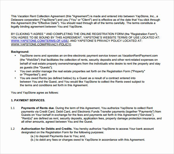 Vacation Rental Agreements Template Elegant 8 Sample Vacation Rental Agreements Pdf Word
