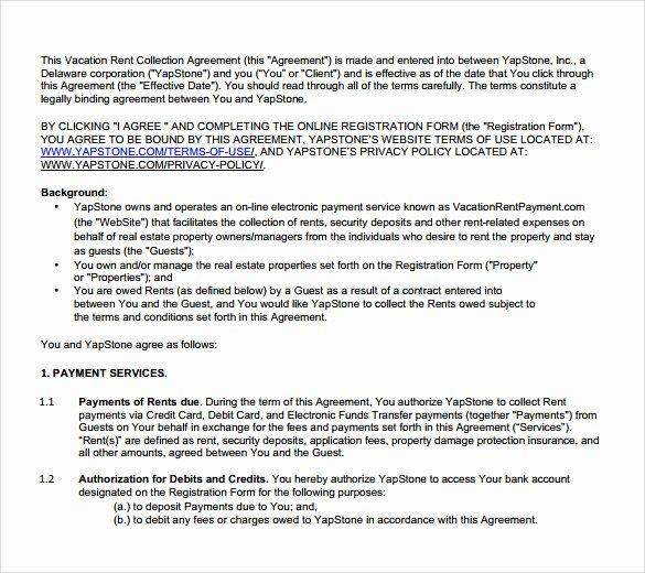 Vacation Rental Agreements Template Elegant 8 Sample Vacation Rental Agreements Pdf Word