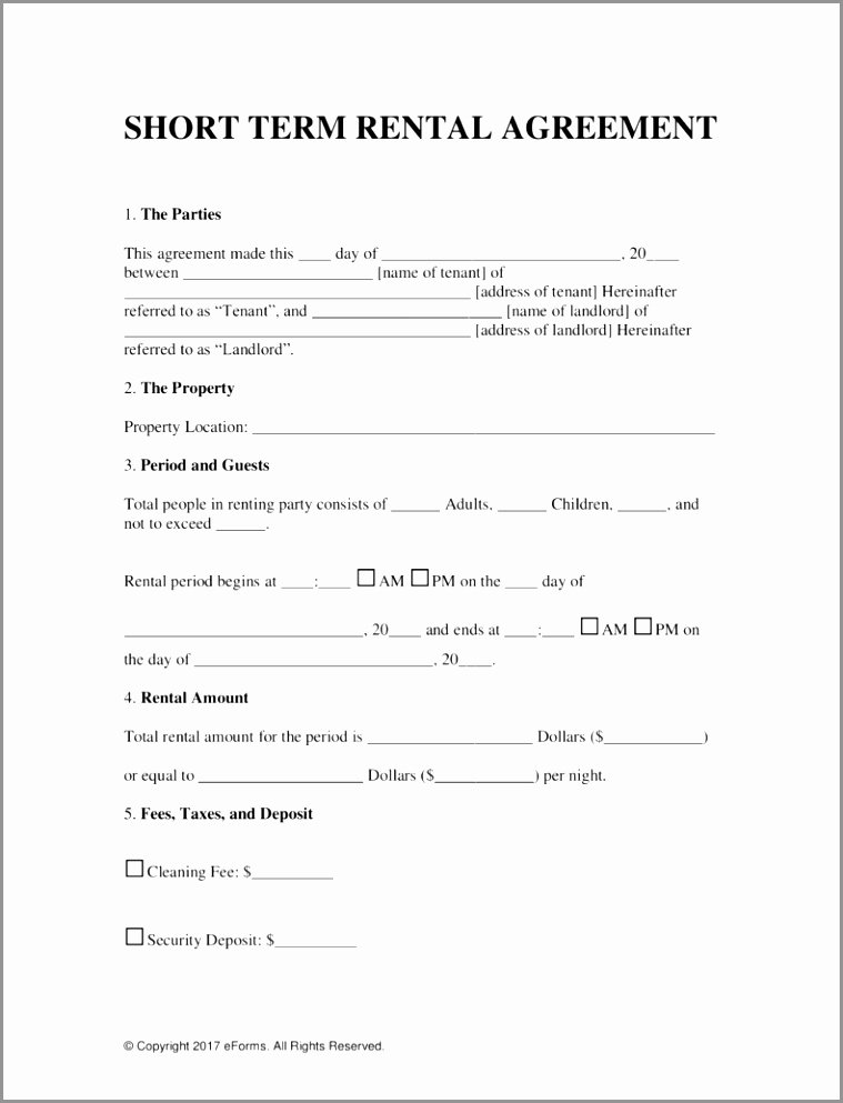 Vacation Rental Agreements Template Fresh 7 Vacation Rental Contract Template Uifia