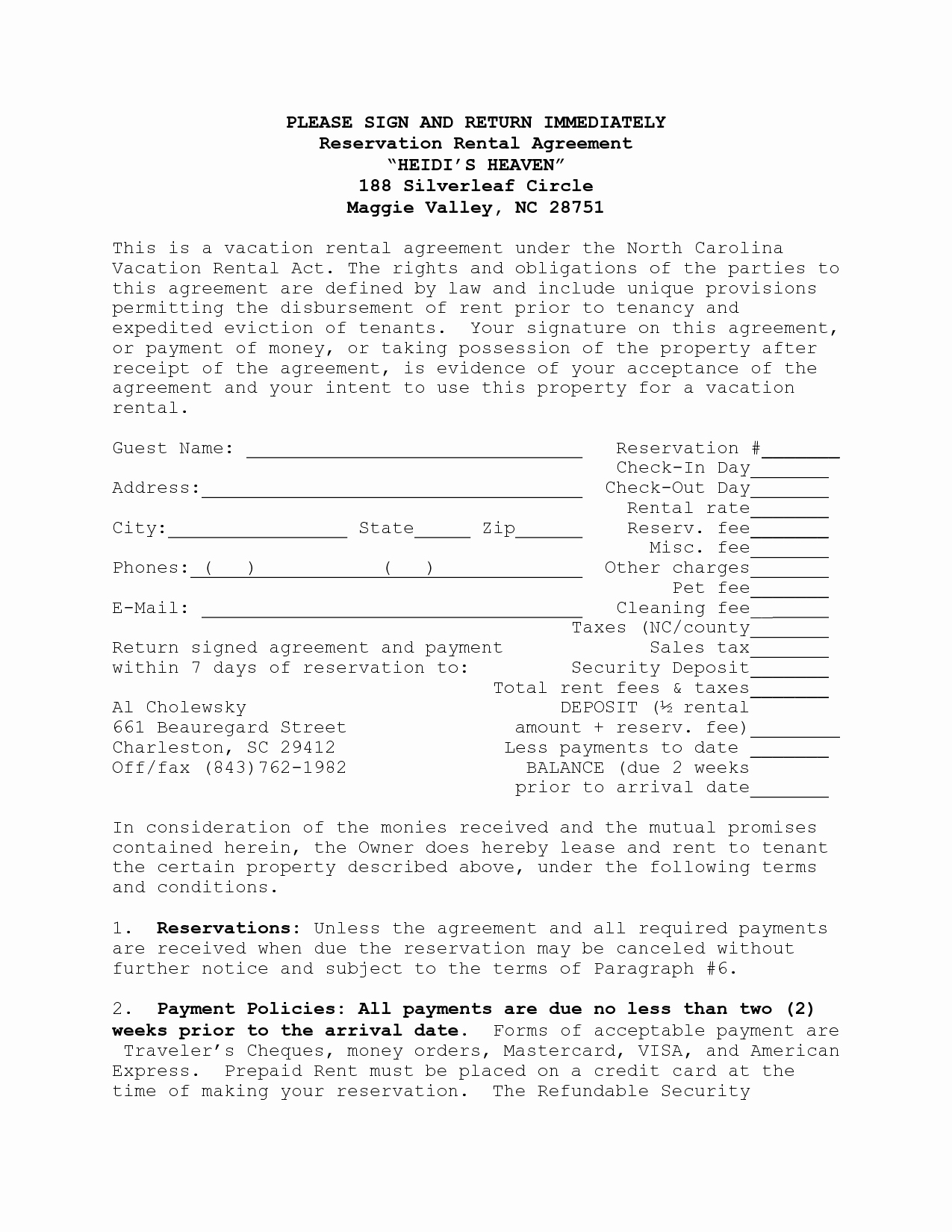 Vacation Rental Agreements Template New House Lease Agreement Template