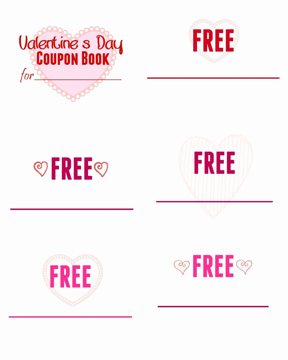 Valentine Day Coupon Template Awesome Printable Valentine S Day Coupon Book for Kids Mom