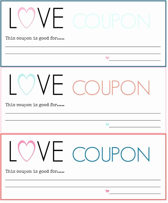 Valentine Day Coupon Template Beautiful Diy Love Coupons Free Printable