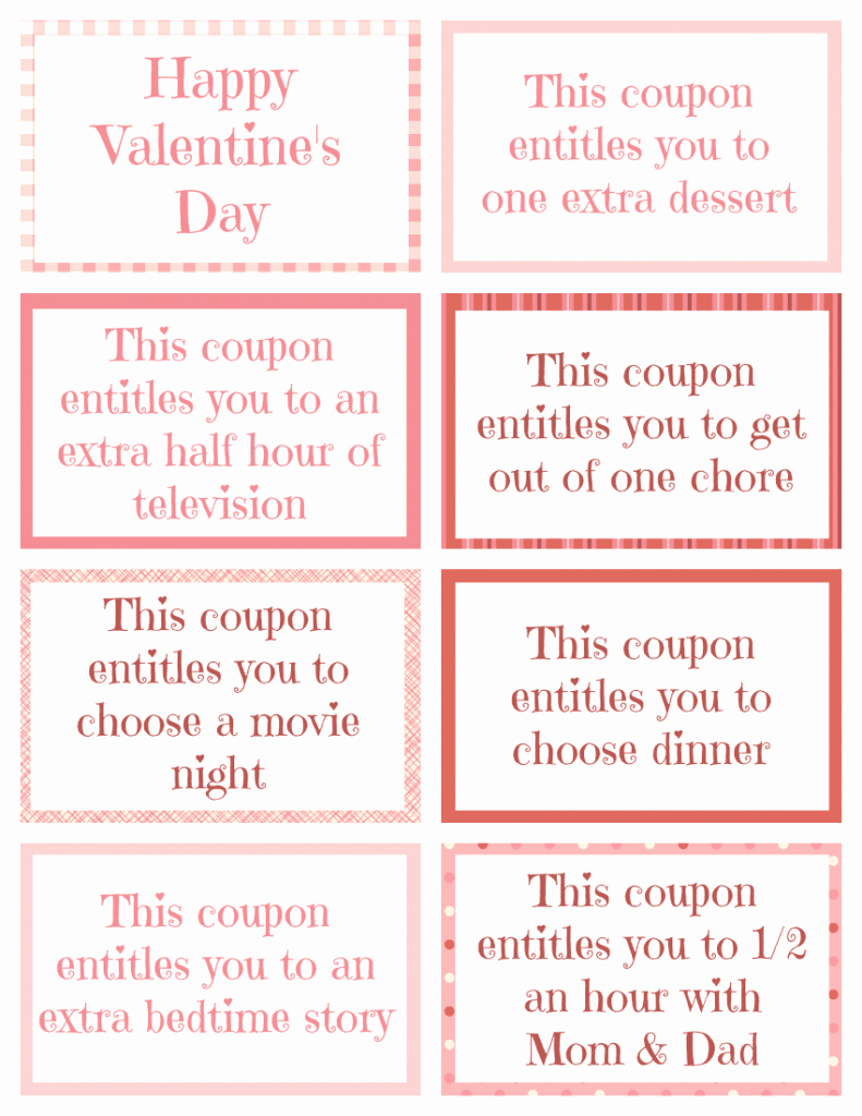Valentine Day Coupon Template Best Of Printable Valentine Coupon Book for Kids