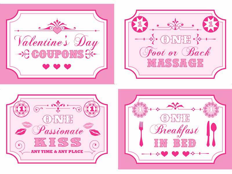 Valentine Day Coupon Template Elegant Free Printable Valentine S Coupon Book